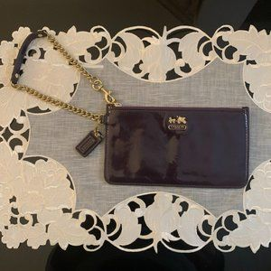 Coach Deep Purple Patent Leather Wristlet